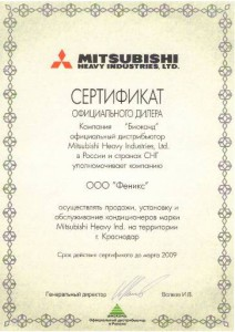 сертификат_Mitsubishi